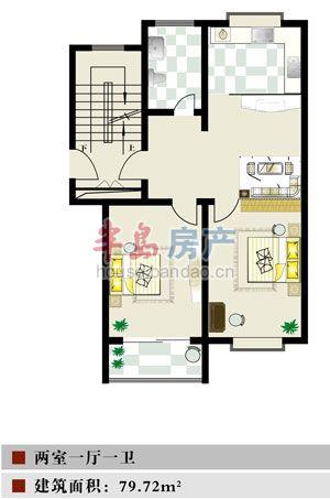 """72户型图-青岛房产新楼盘-半岛房产""""在青岛买房上!"""
