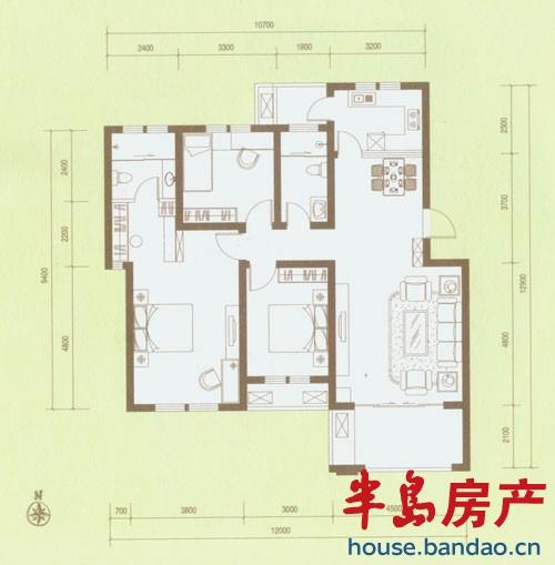 """户型图-香邑漫步-青岛房产图片-半岛房产""""在青岛"""