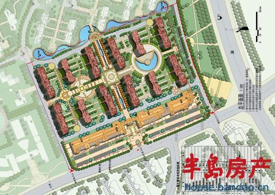 """总平面图楼盘相册-青岛房产新楼盘-半岛房产""""在青岛"""