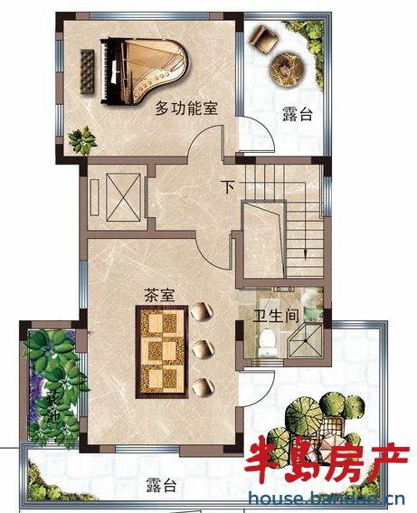 """户型图-海尔原乡墅-青岛房产图片-半岛房产""""在青岛上!"""