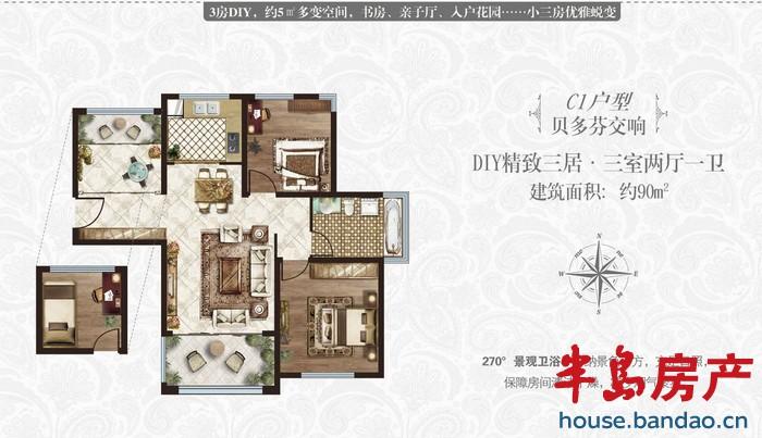"""户型图-祥泰正阳东郡-青岛房产图片-半岛房产""""在青岛!"""