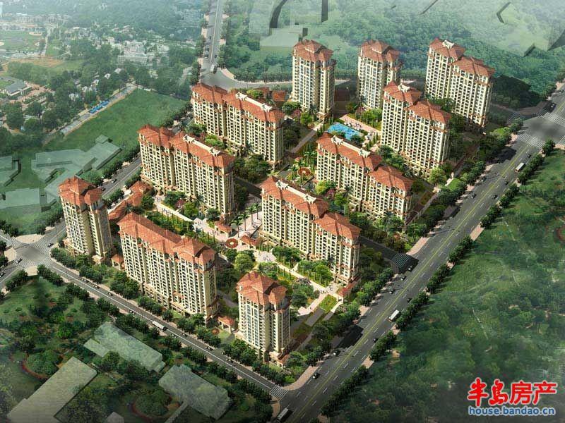 绿城理想之城蓝岸鸟瞰效果图 效果图-青岛房产新楼盘
