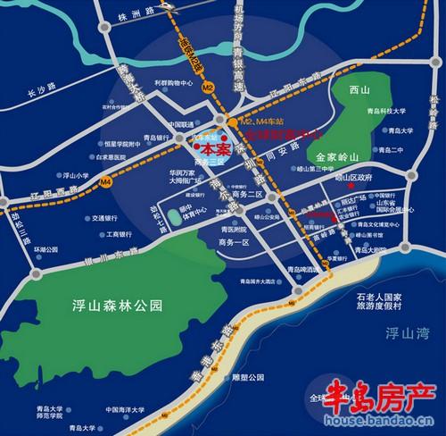 """名汇国际区位图楼盘相册-青岛房产新楼盘-半岛房产""""在"""