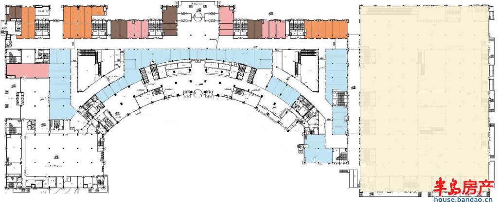 """一层业态规划图户型图-青岛房产新楼盘-半岛房产""""在上"""