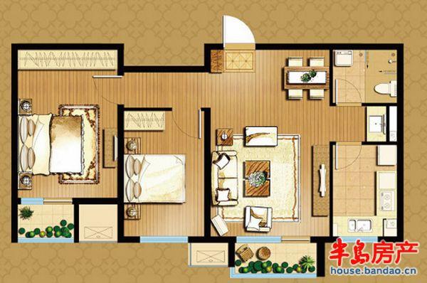 """户型图-万科魅力之城-青岛房产图片-半岛房产""""在青岛!"""