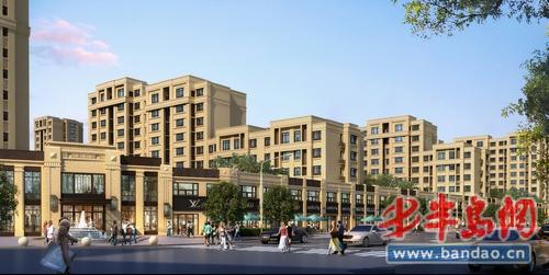 """沿街商業透視圖效果圖-青島房產新樓盤-半島房產""""在上"""
