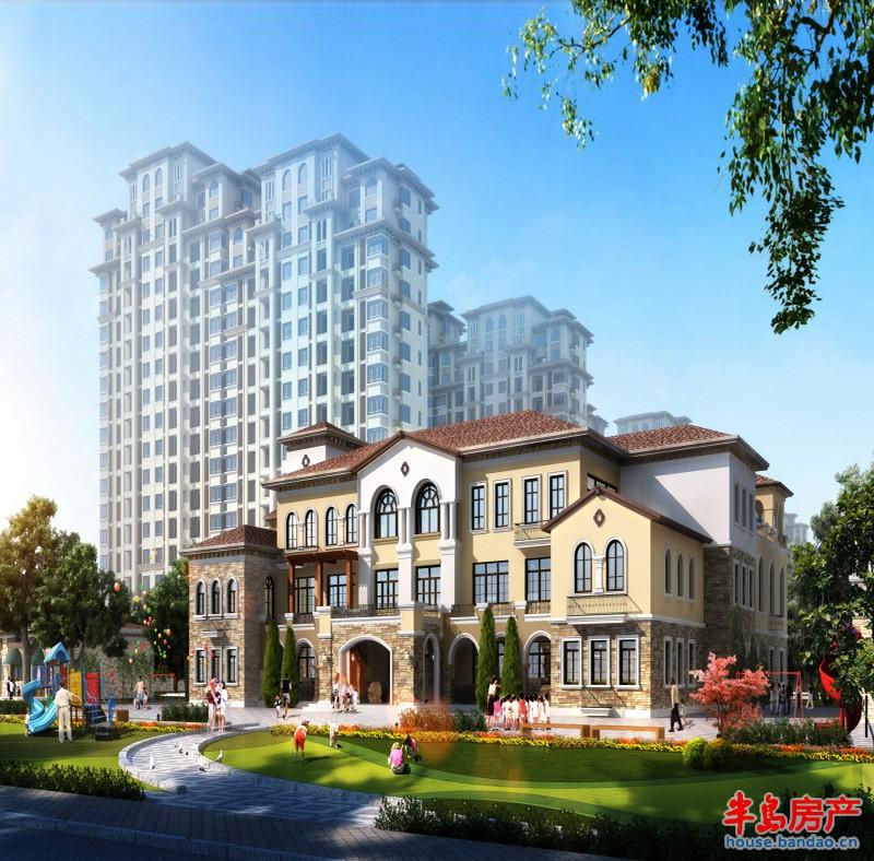 """幼儿园效果图-青岛房产新楼盘-半岛房产""""在青岛买房上"""