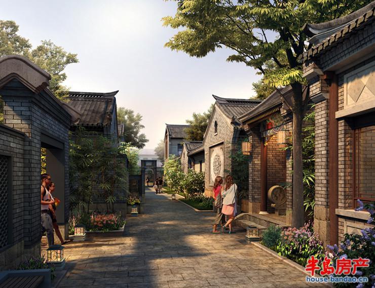 院落街巷效果图效果图-青岛房产新楼盘-半岛房产