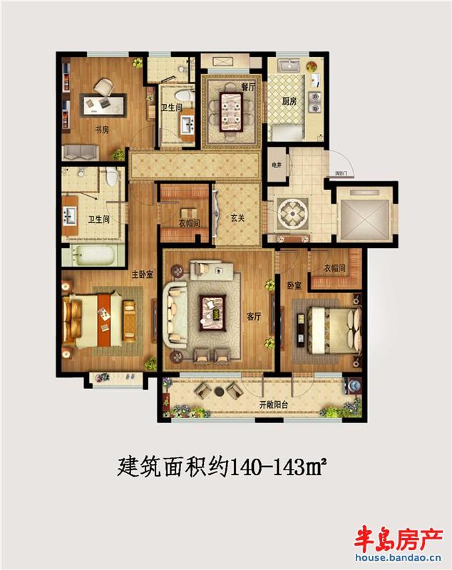 """户型图-金隅和府-青岛房产图片-半岛房产""""在青岛上网!"""